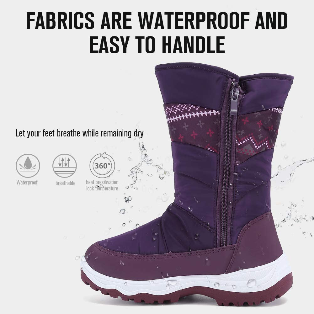 CIOR Womens Snow Boots Winter II Waterproof Fur Lined Frosty Warm Anti-Slip Boot