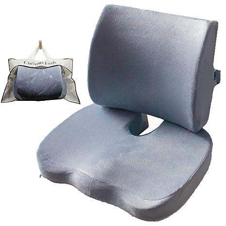 Amazon.com: Cojín de espuma viscoelástica para asiento y ...