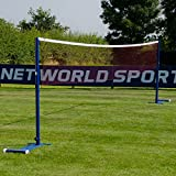 ProCourt Badminton Posts & Net Package - Portable Indoor & Outdoor Uprights (Badminton Post & Net Package)