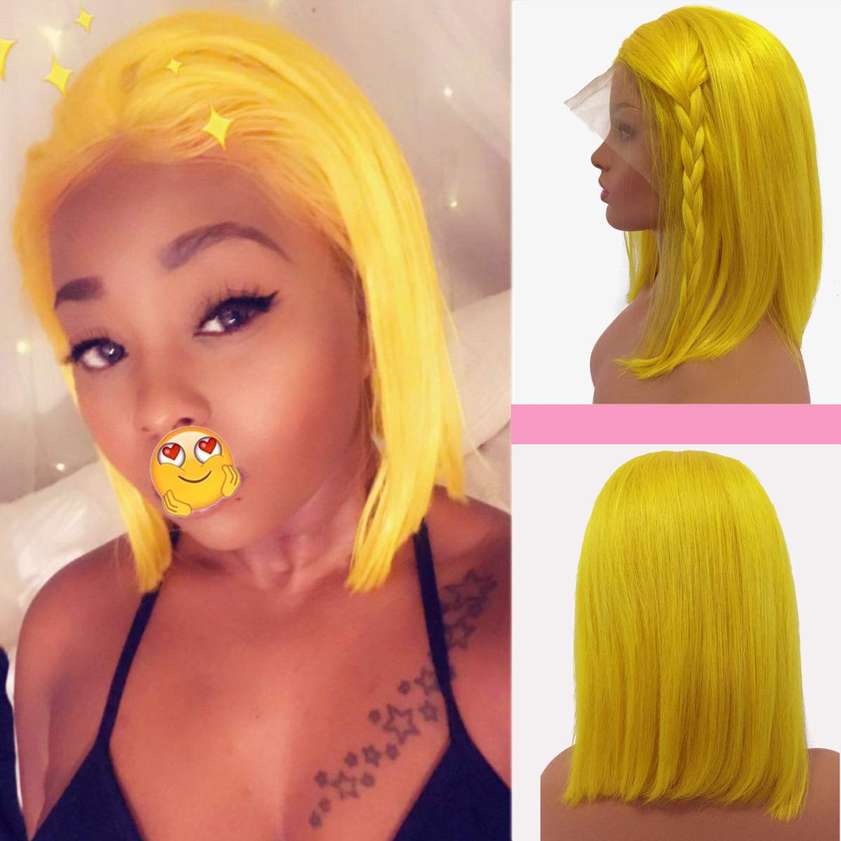 Human Hair Bob Lace Front Wigs Pre Plucked