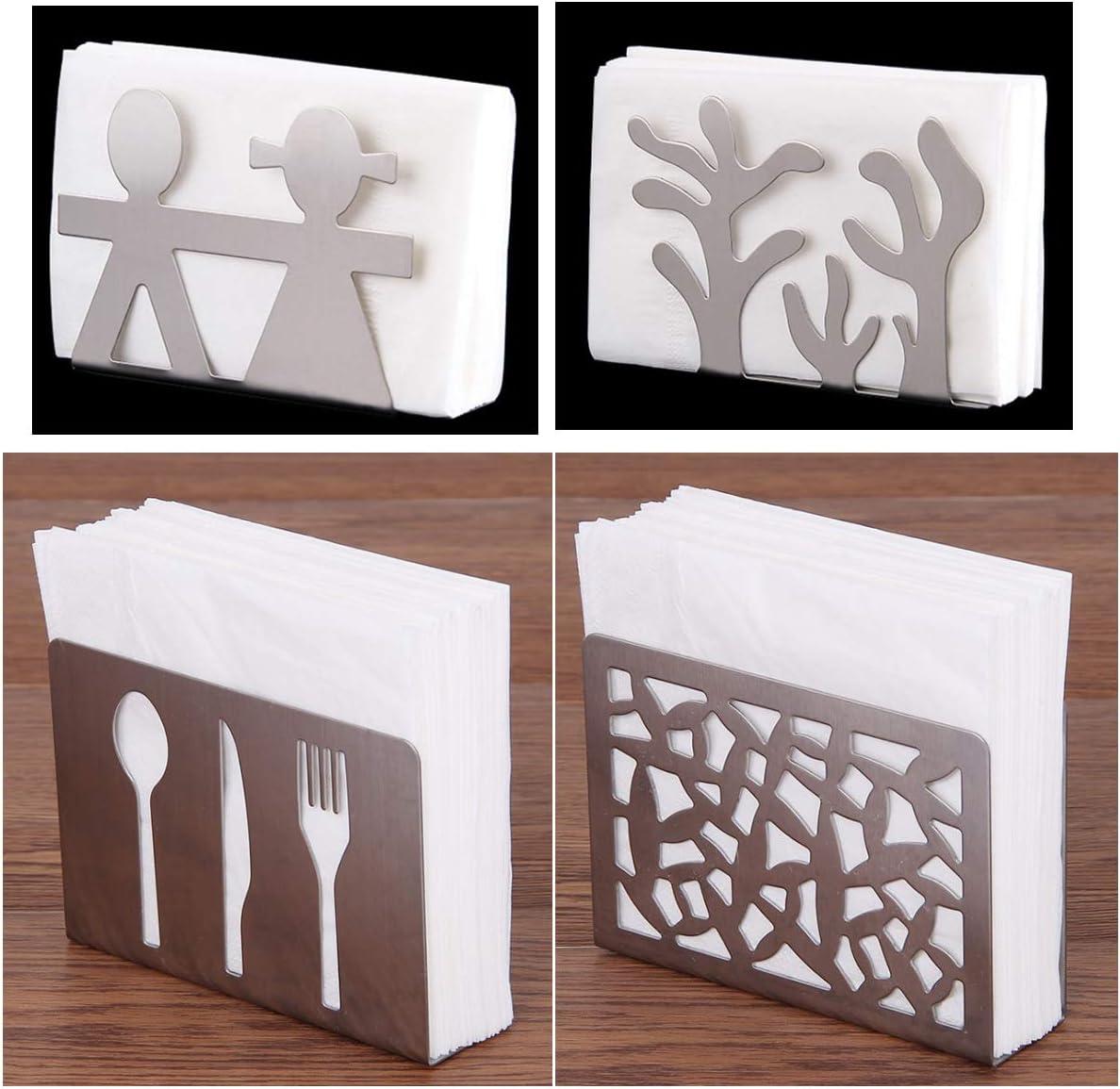 Stilvolle und Elegante Formen verleihen Ihrem Esstisch Atmosph/äre N+A Edelstahl Serviettenhalter Serviette Halter Metall Tisch Dekor