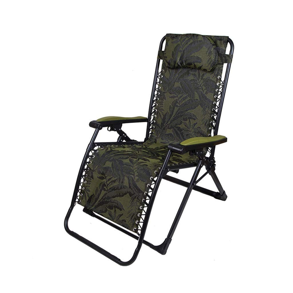 YYTLTY Outdoor Recliner,Anti-Gravity Chair, Adjustable for Seat and Recliner, for Terrace Outings and Picnics Easy to Use (Color : Green) by YYTLTY