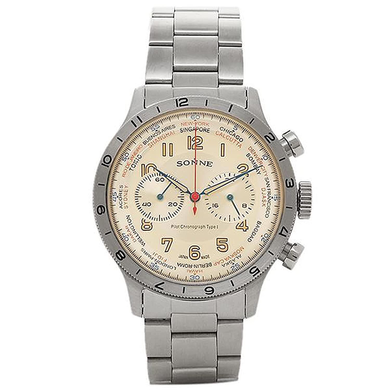 [ゾンネ] メンズ 腕時計 SONNE HI003IV アイボリー シルバー [並行輸入品] B01JFP6SHY