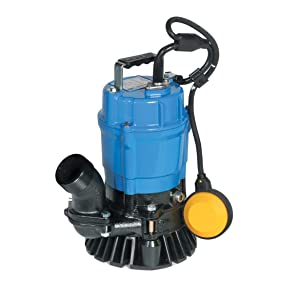 "Tsurumi HSZ2.4S; Float Operated semi-Vortex Submersible Trash Pump w/Agitator, 1/2hp, 115V, 2"" Discharge"