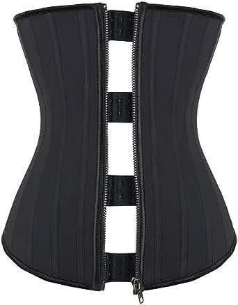 FeelinGirl Korsett för kvinnor, shapewear, midjegördel, midjegördel, underbyst, halsformare, body, mage, korsett