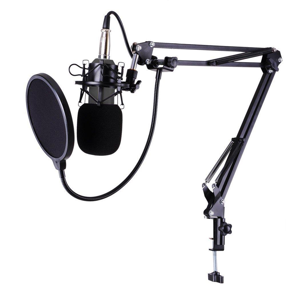 Raza BM-800 Professional Studio Live Streaming Broadcasting Condenser Sound Studio Recording Microphone+Shock Mount+NB35 Arm Stand 32819283281