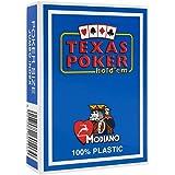 """Modiano """"Texas Poker Hold´em - 100% Plastik Kartenspiel, 2 Pips/Eckzeichen im Jumbo Index"""