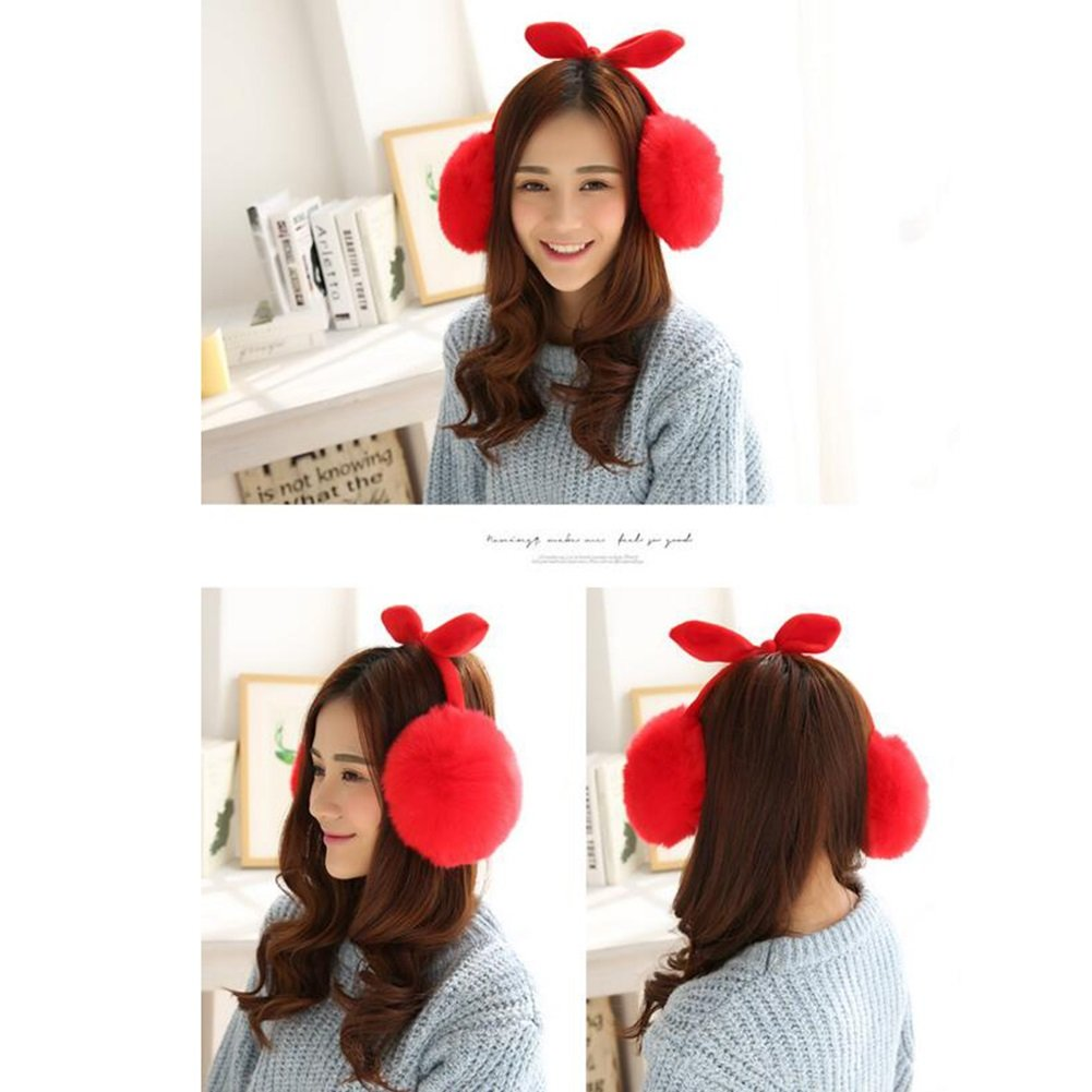 MUMA-A9 Femmina Modelli Cuffie Lovely Winter Ear-Cap Tab Keep Warm Fashion  ( Colore : Rosso ): Amazon.it: Casa e cucina