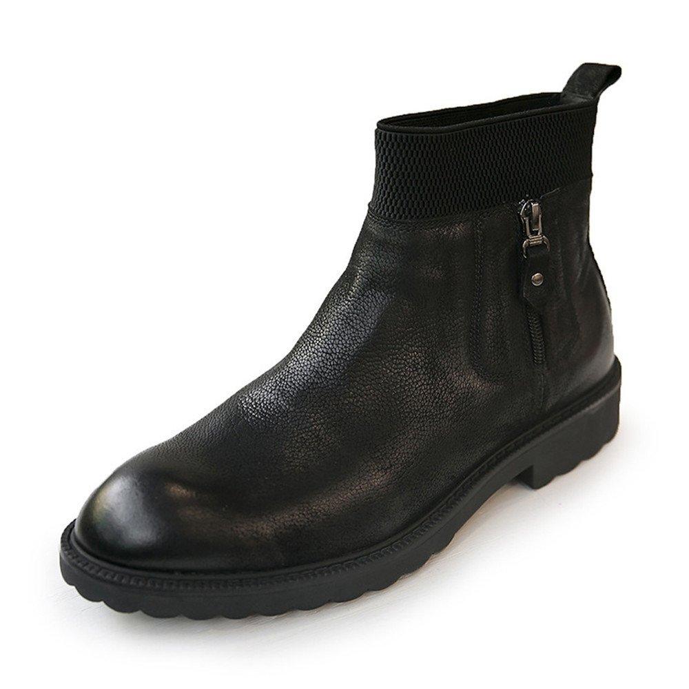 Männer freizeit - mode stiefel martin stiefel retro - chelsea - stiefel,schwarz,43