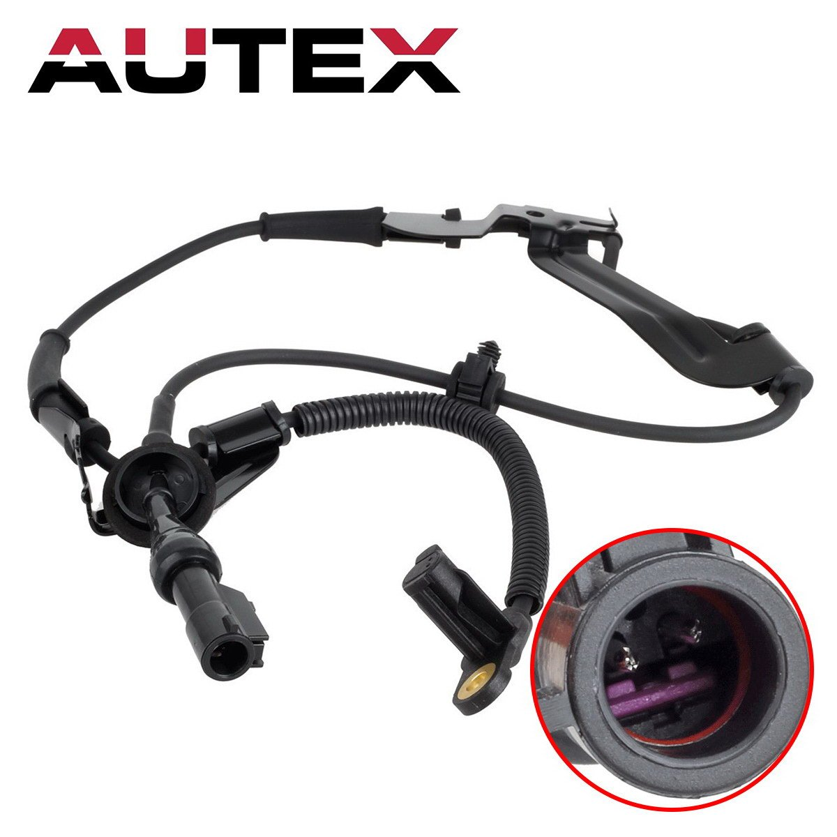 AUTEX 1pc Front Right ABS Wheel Speed Sensor ALS127 YL8Z2C204AB 19236186  Compatible with Ford Escape 2001 2002 2003 2004 2005 2006 2007 08/Mazda
