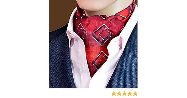 LIXIONG Hombres Corbata Bufanda Pañuelo Jacquard Traje Camisa Forro Toalla de Seda Toalla de Boca de Cuello, 12 Tipos de Estilos (Color : #8)