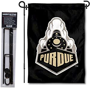 College Flags & Banners Co. Purdue Boilermakers Yard Flag and Flag Stand Pole Holder Set