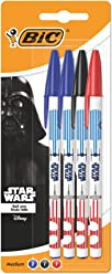 Star Wars BIC Ballpoint Pens Assorted Colours 4 Pack