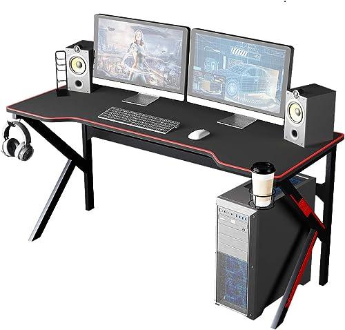 SogesHome 63 inch Gaming Desk Gamer Computer Desk Pro Gaming Desk PC Desk Gaming Tables - the best modern office desk for the money