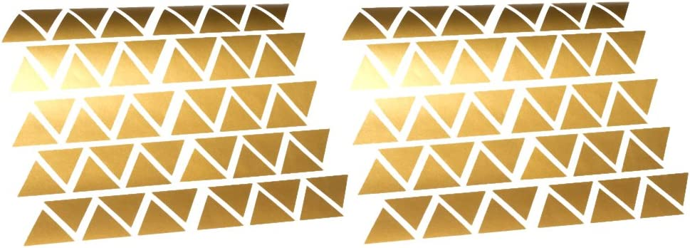 Tiny Triangles Wall Vinyl Decals Sticker Shapes Fun Easy Bedroom Décor Metallic Gold
