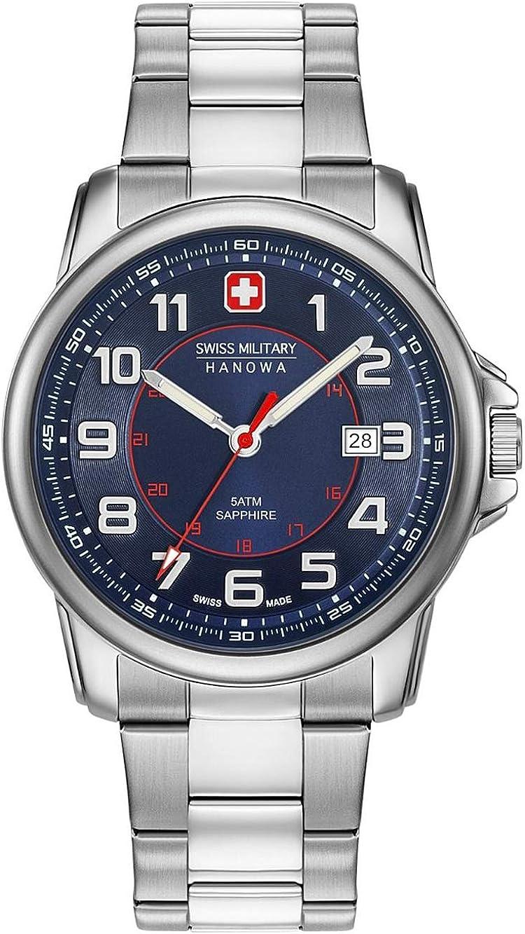 Swiss Military Hanowa Reloj Analógico para Unisex Adultos de Cuarzo con Correa en Acero Inoxidable 06-5330.04.003