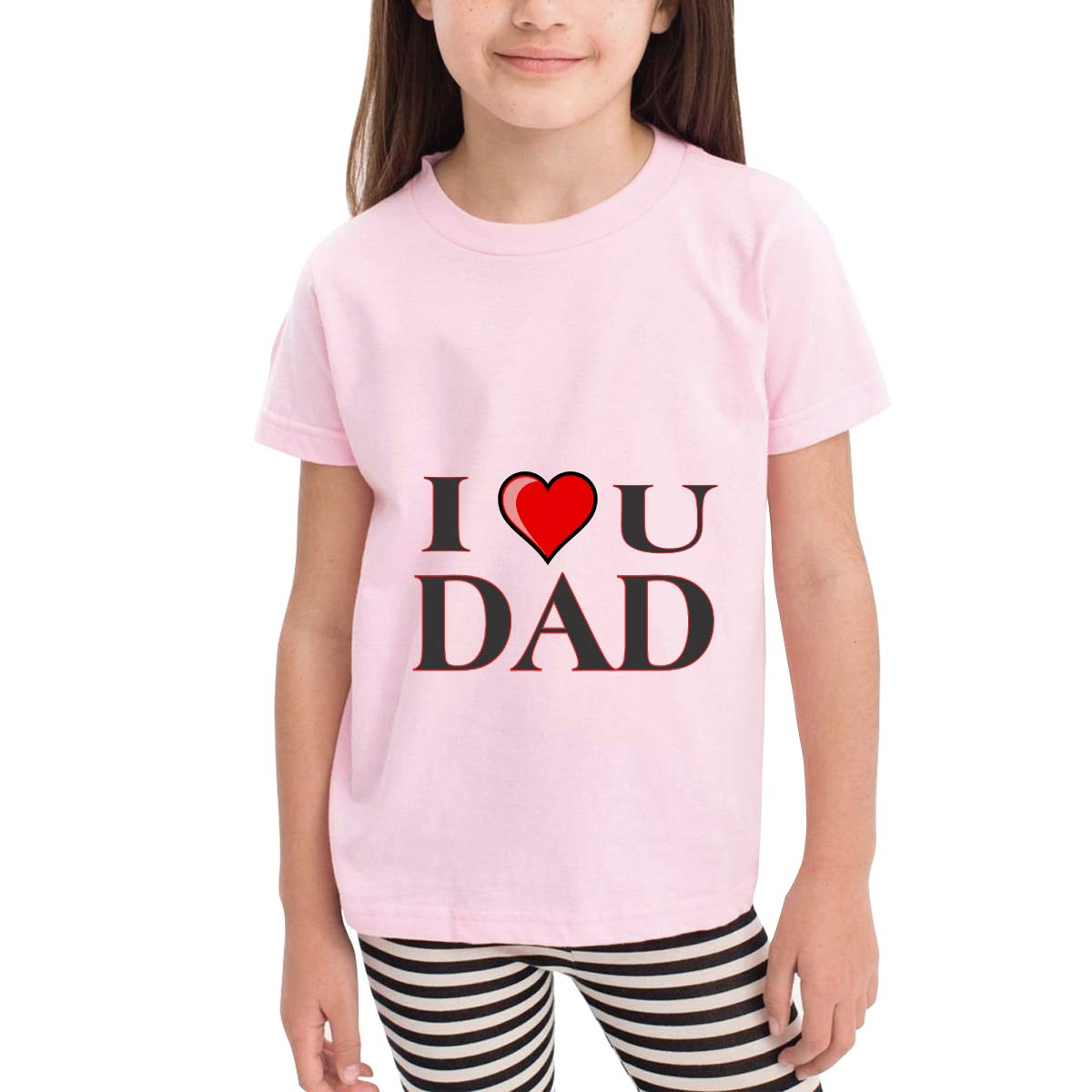 I Love You Dad 100/% Cotton Toddler Baby Boys Girls Kids Short Sleeve T Shirt Top Tee Clothes 2-6 T