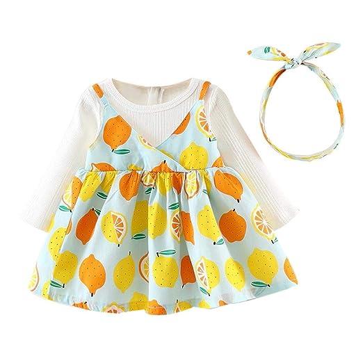 9c444328d Amazon.com  Dinlong Toddler Kids Baby Girls Party Dresses