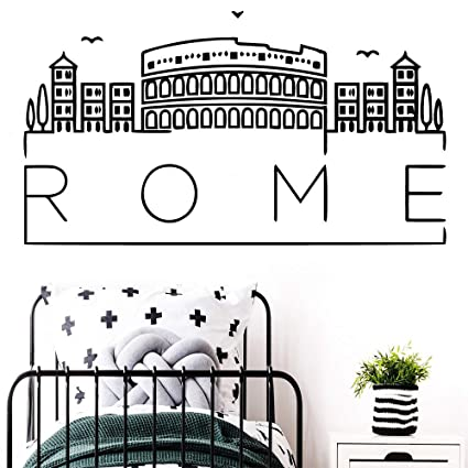 Mapa de Roma 3d arte de la pared calcomanías calcomanías ...
