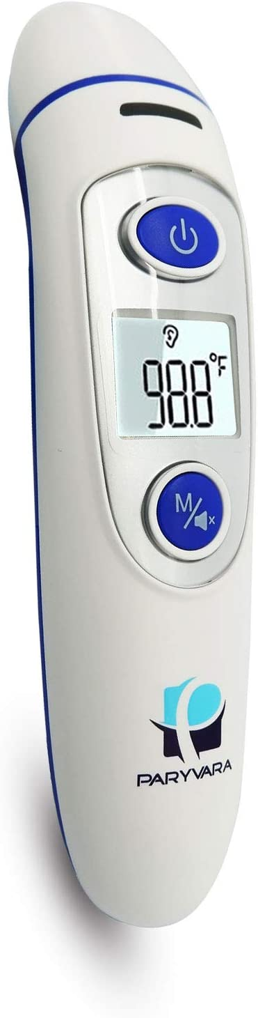Temporal Medical Thermometer Forehead Ear – Latest Dual Mode Digital Thermometer is Suitable for Baby, Infant, Toddler and Adults. Get Instant Readings. FDA Approved and CE Pass. 2019 Model