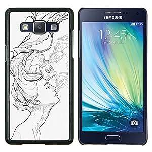 "For Samsung Galaxy A5 ( A5000 ) 2014 Version Case , Arte pop negro"" - Diseño Patrón Teléfono Caso Cubierta Case Bumper Duro Protección Case Cover Funda"