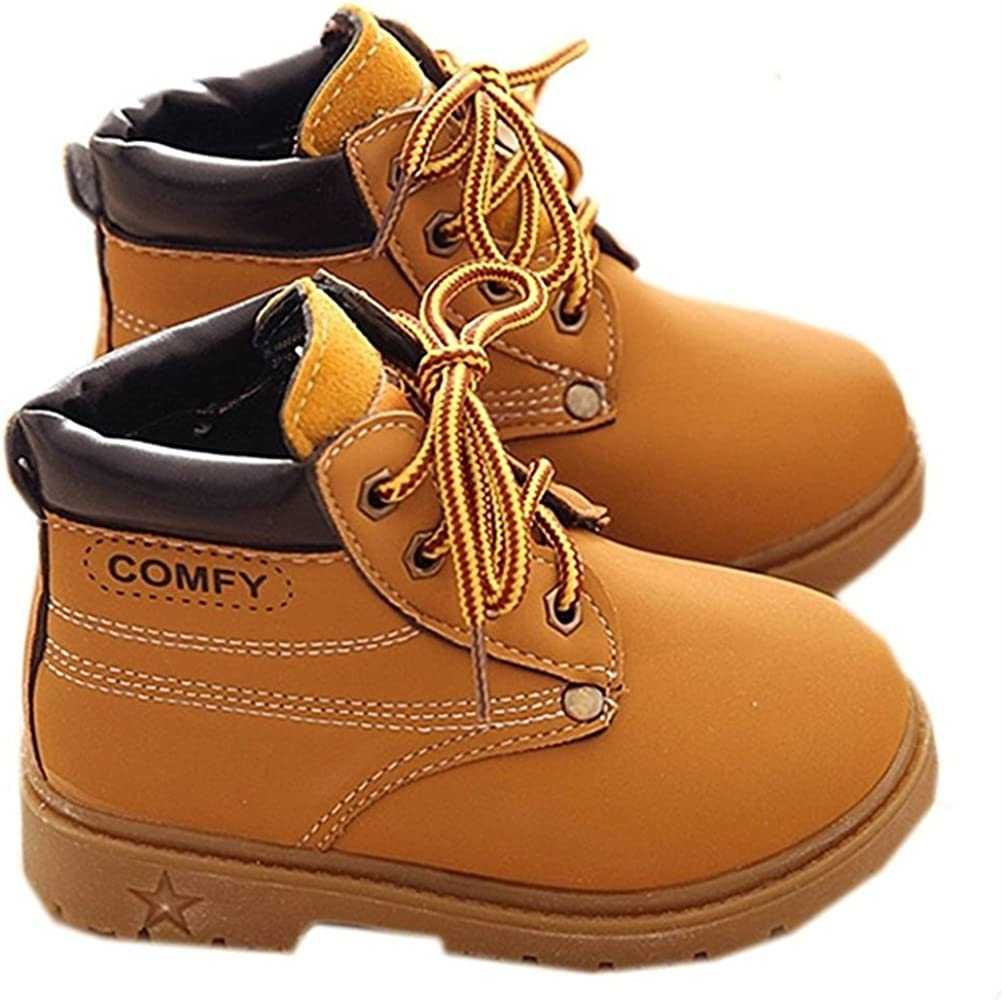 Brightest Babys Boys Girls Outdoor Waterproof Lace-Up Hiking Ankle Boots Toddler//Little Kid