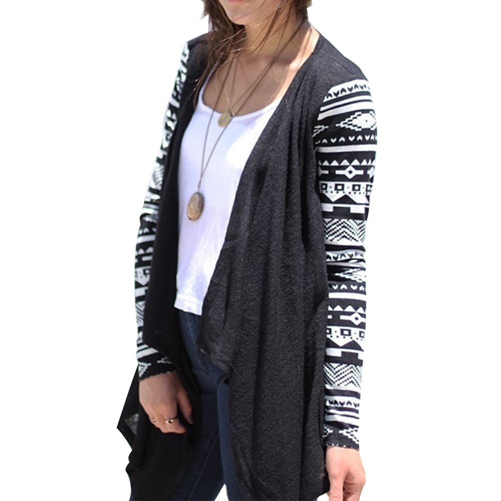 Women's Irregular Open Front Long Sweater Casual Coat Knitted Cardigan Loose Jacket,4x-large,black
