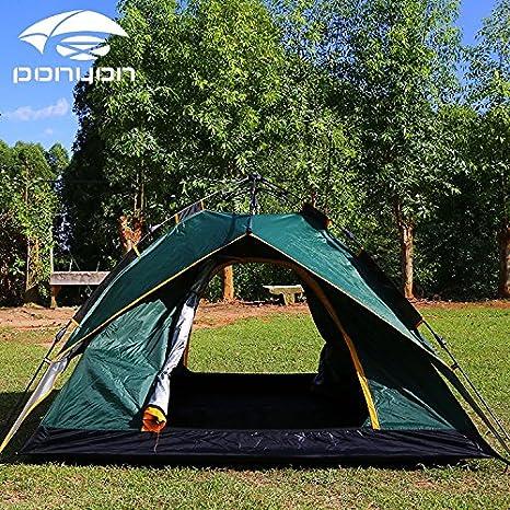 Tenda Da Sole Automaticamente Tre Amici Usato Una Tenda Da Campeggio