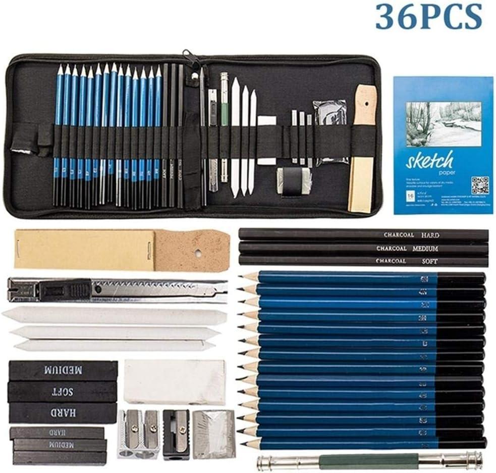 36Pcs Sketch Drawing Painting Charcoal Pencil Kit Set Art Sketching Tools Gifts
