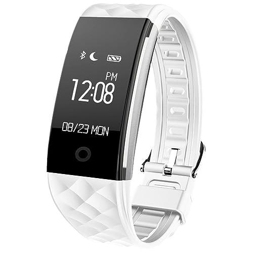 Semaco ZJB7000-WLWatch006 Fitness Tracker Waterproof Smartwatch, White/Silver