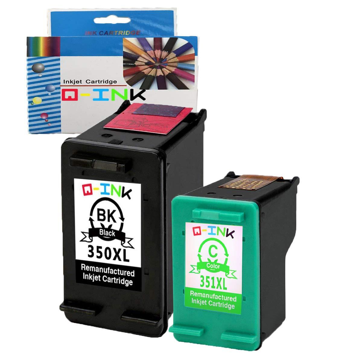 QINK 2PK Remanufacturados para HP 350XL 351XL Cartucho de tinta ...