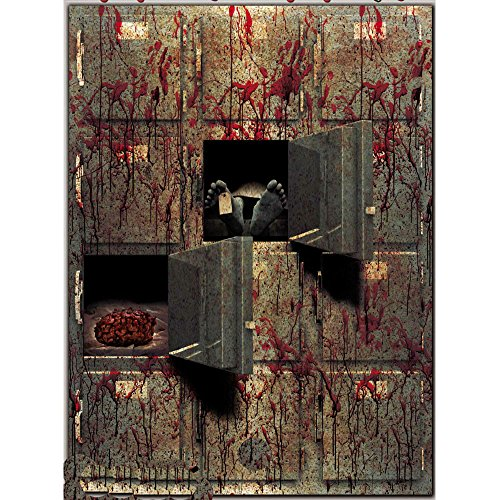Bloody Horror GIANT MORGUE WALL GORE DECOR Halloween Prop Decoration Autopsy CSI Spooky]()