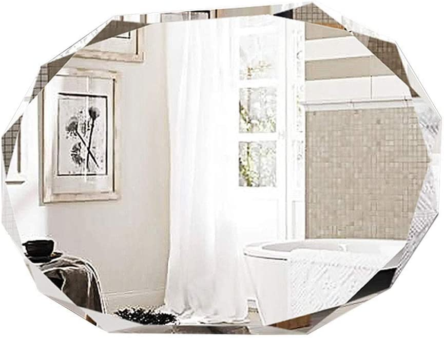 XCY Bathroom Mirror Unframed, Explosion-Proof Glass Panel Makeup Wall Mirror Premium Home Decorative Mirror for Bedroom, Living Room, Entryway,70X90Cm,70X90Cm
