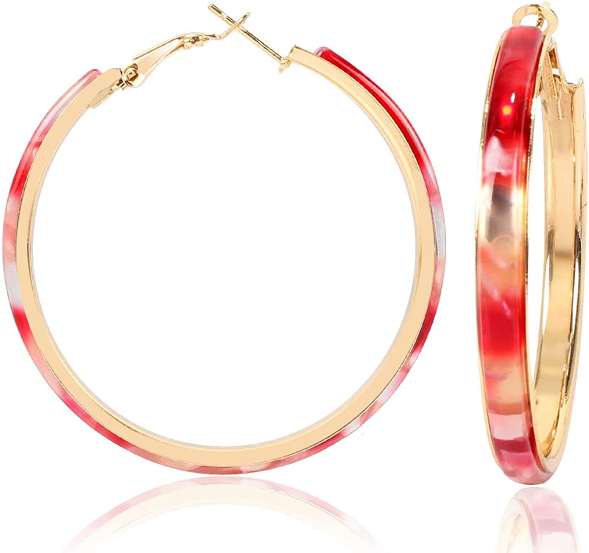 Acrylic Hoop Earrings -...