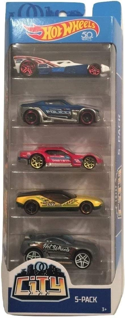 Hot Wheels 2018 50th Anniversary City 1:64 Scale 5-Pack