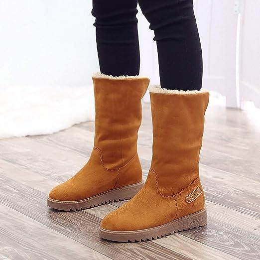 Mujer Botas de Nieve Botas Cortas de Invierno para Mujer Botas Cortas de algodón Botas de Nieve Botín Corto Zapatos Invierno Calientes Botines Mujer ...