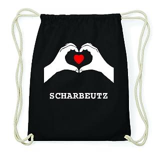 JOllify Scharbeutz Hipster Sacca Borsa Zaino in cotone–colore: nero