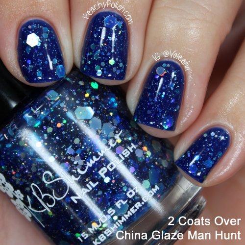 Amazon.com : I Got A Crush On Blue Glitter Nail Polish- 0.5 oz ...