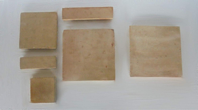 Zagora 1m/² Terrakotta beige 20x20x2cm handgemacht Tonfliese Kachel Natur rustikal