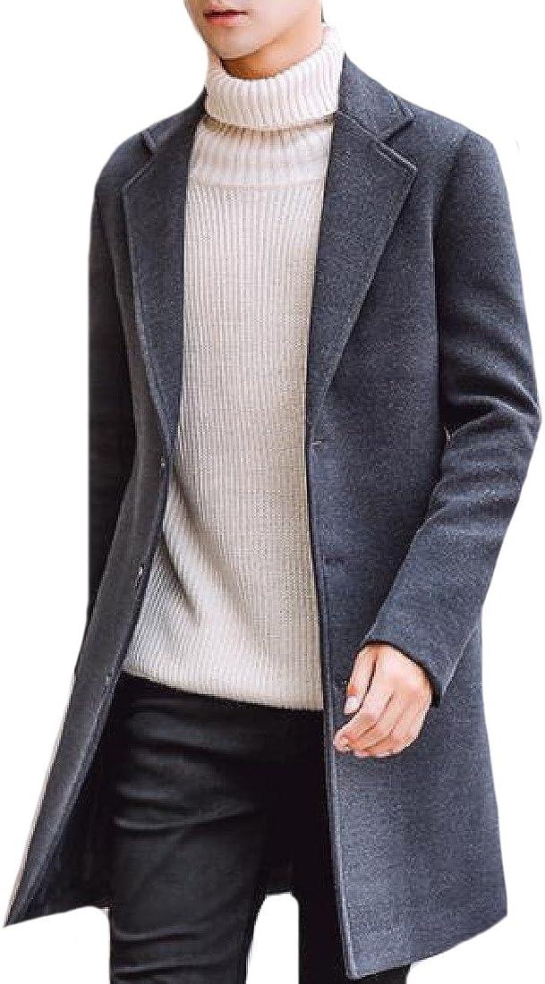 Comfy Mens Longline Eco Fleece Button Closure Handsome Overcoat