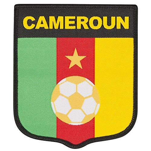 Camerun ricamo Patch 90mm x 75mm, unisex adulto, giallo, Taglia unica
