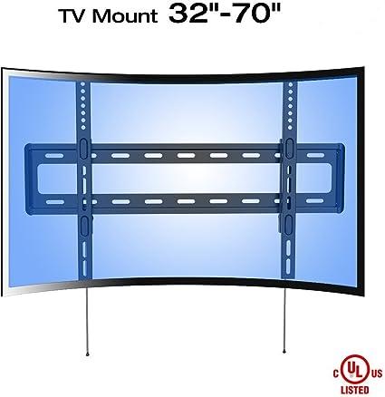 Fleximounts R1 Soporte de Pared Fijo para televisor UHD HD Curvo ...