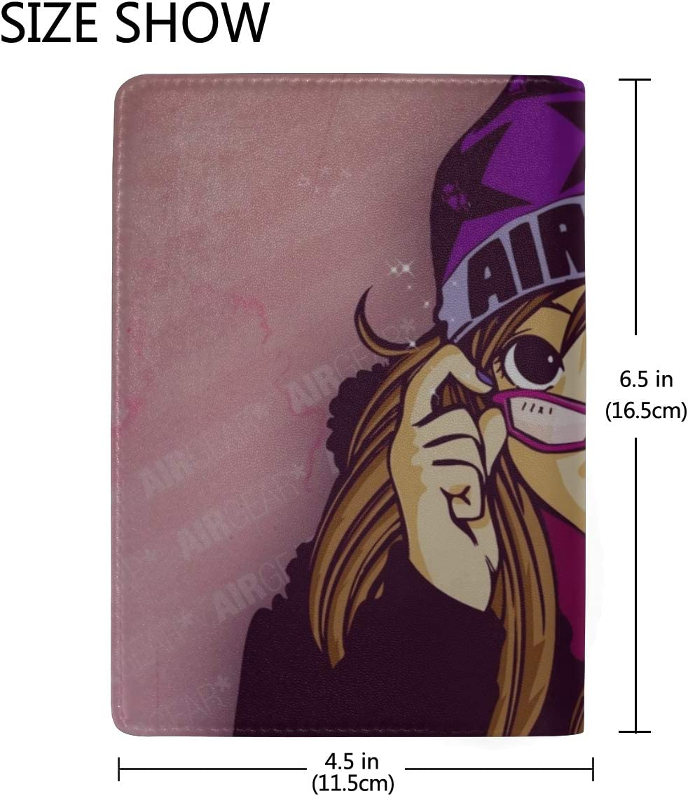 Oh Great Air Gear Noyamano Ringo Girl Hat Glasses Leather Passport Holder Cover Case Travel One Pocket