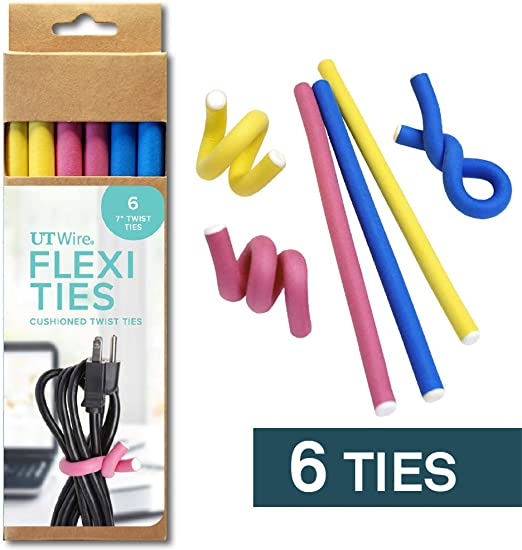 4 Pieces Silicone Twist Reusable Rubber Cable Ties
