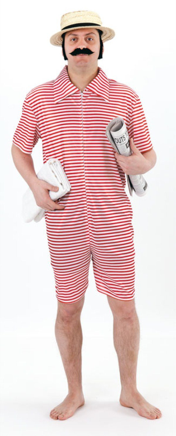 Retro Clothing for Men | Vintage Men's Fashion 1920s Beach Hunk/Gentleman Bather - Adult Fancy Dress Costume £17.90 AT vintagedancer.com