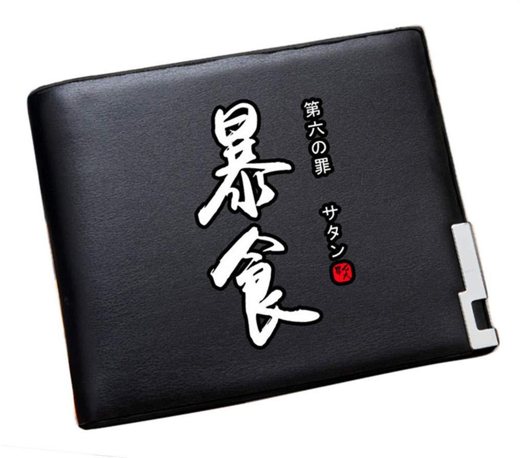 Cosstars The Seven Deadly Sins Anime Cartera Hombre Cuero Artificial Billetera Portatarjetas Slim Wallet Negro /4: Amazon.es: Equipaje
