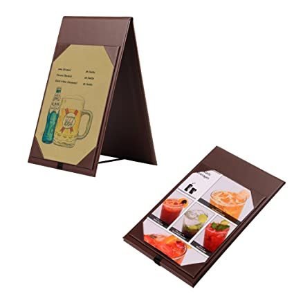 Amazoncom PCS Leather Table Tent Menu Holder Menu Sign Display - Restaurant table tents and menu sign displays