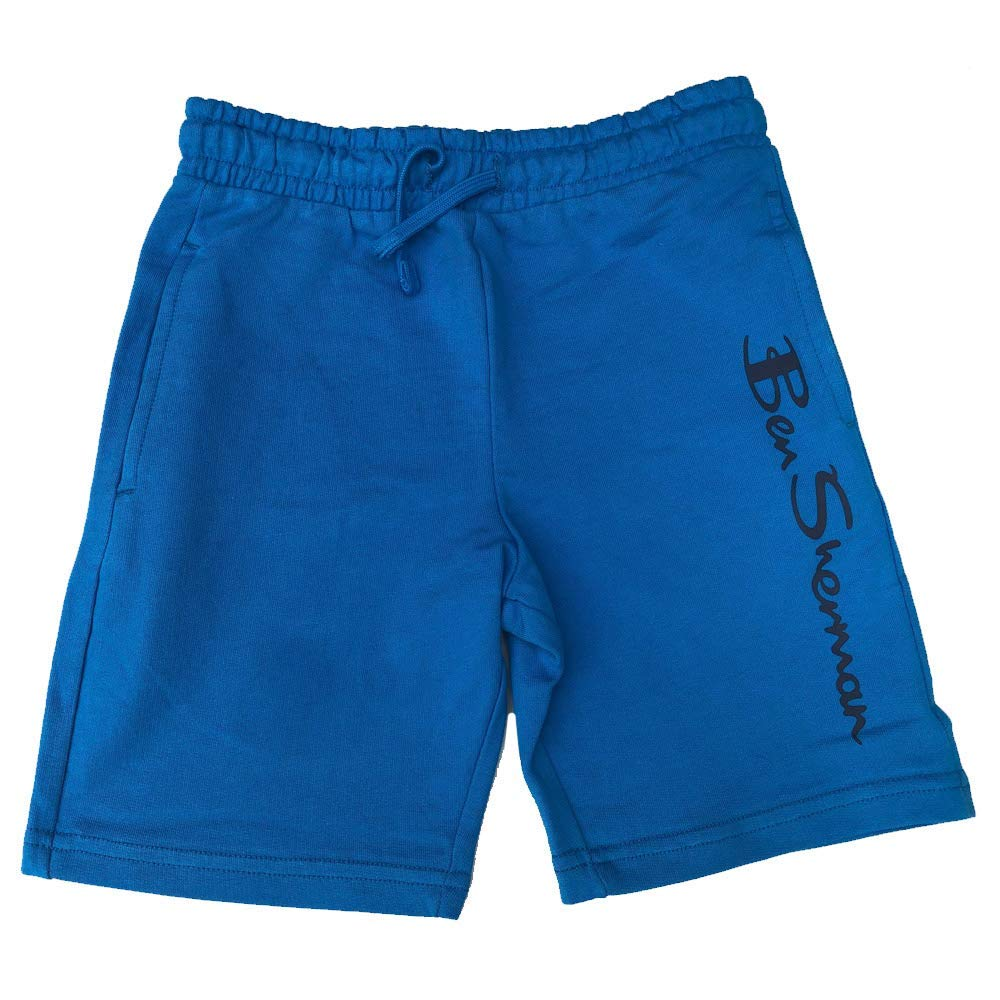 Ben Sherman Boys Shorts Tracksuit Material Shorts Dresden Blue Ages 7 Years up to 15 Years