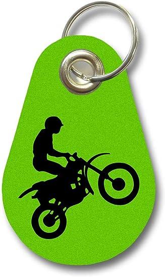Samunshi/® Schl/üsselanh/änger Motocross aus Filz 12 Farben 9,5x6,5cm
