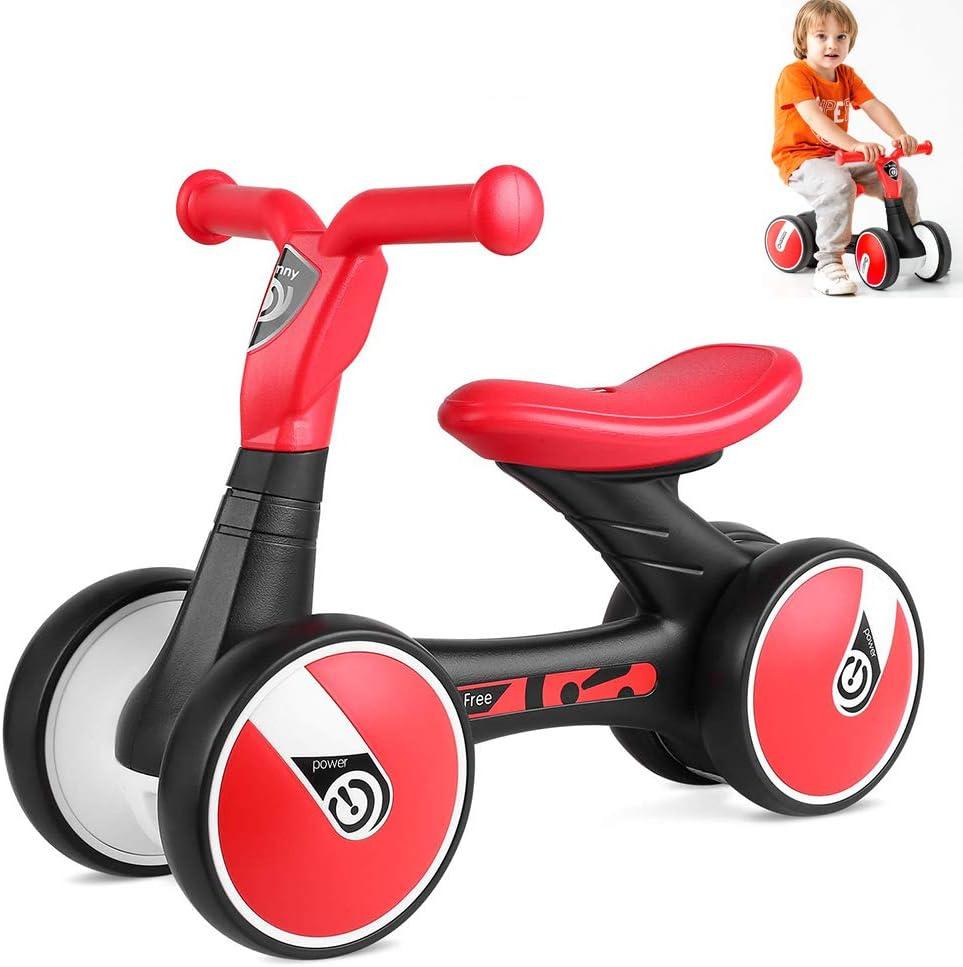 DSYYF Baby Balance Bike No Pedal Baby Car Ride-on Toy para niños de 1 a 3 años Walker Durable Toddler Triciclo Infant Indoor Outdoor,Rojo: Amazon.es: Hogar